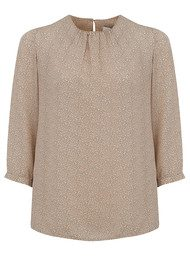 NEW LILY Tawana Blouse - Nude Print