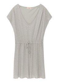 American Vintage Jacksonville V Neck Dress - Heather Grey
