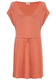 American Vintage Jacksonville V Neck Dress - Papaya