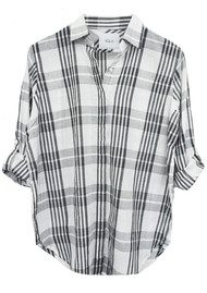 Rails Ella Shirt - White & Ash Plaid