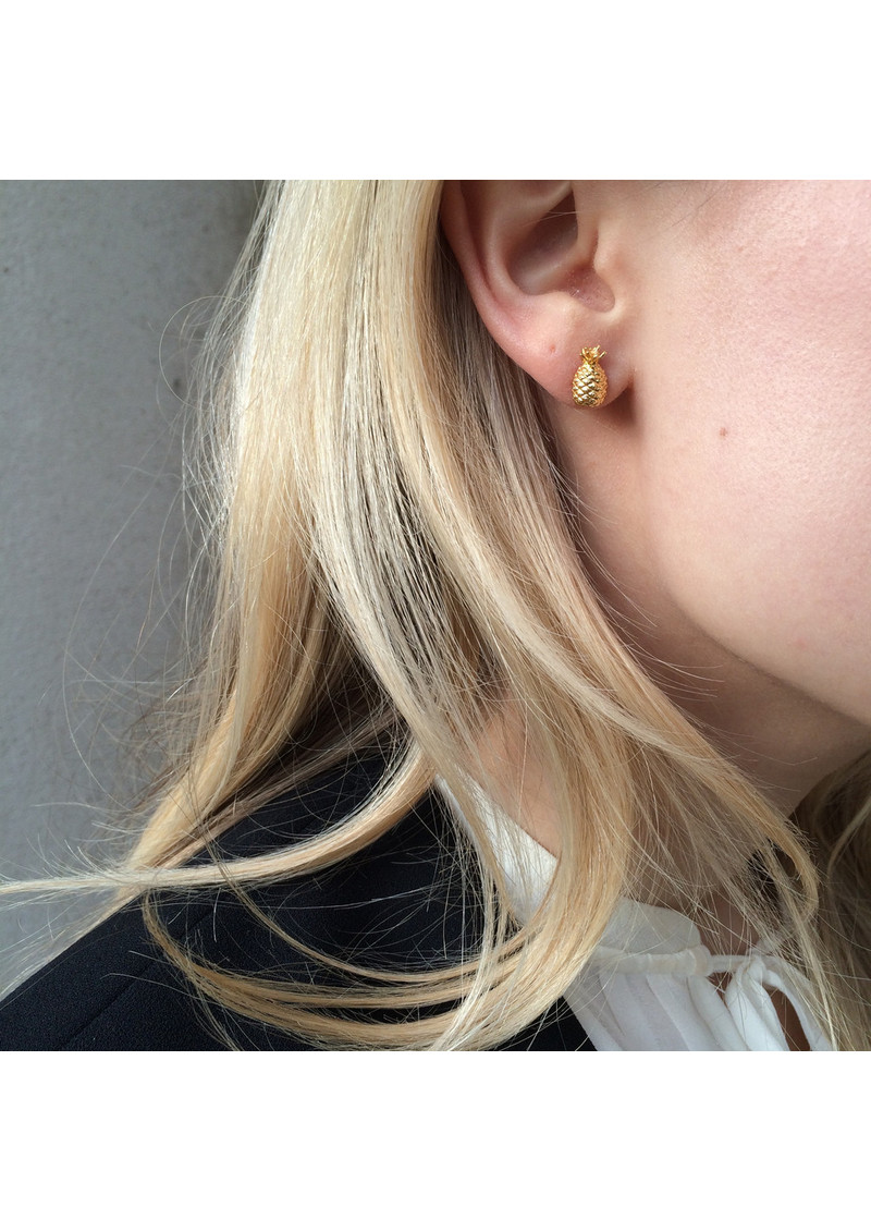 RACHEL JACKSON Pineapple Stud Earrings - Silver main image
