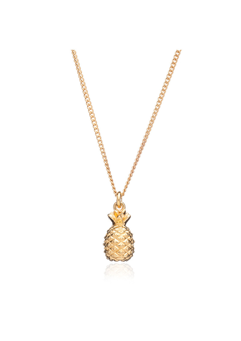 Pineapple Pendant Short Necklace - Gold main image