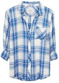 Rails Hunter Shirt - White, Blue & Lilac