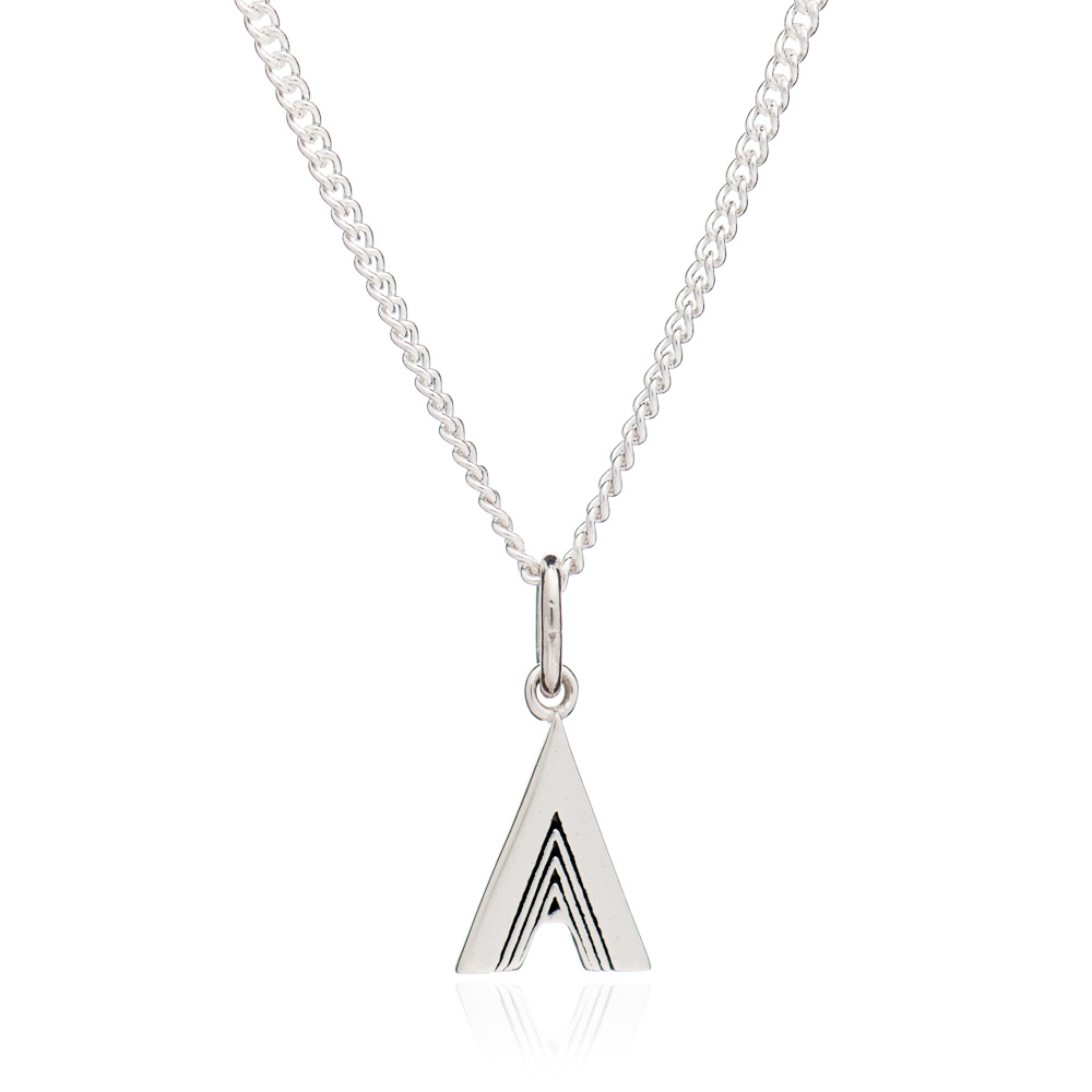 This Is Me 'A' Alphabet Necklace - Silver