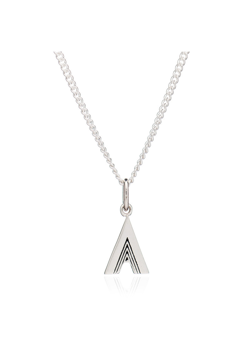 This Is Me 'A' Alphabet Necklace - Silver main image