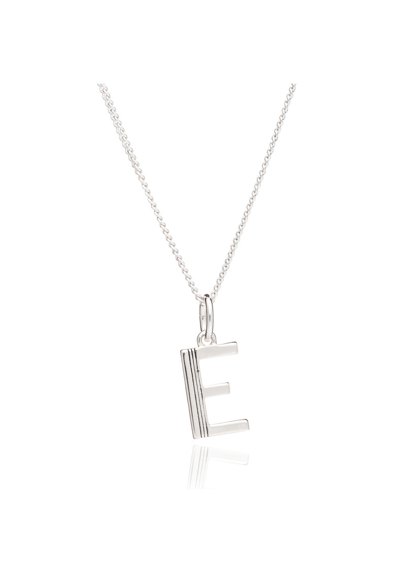This Is Me 'E' Alphabet Necklace - Silver main image