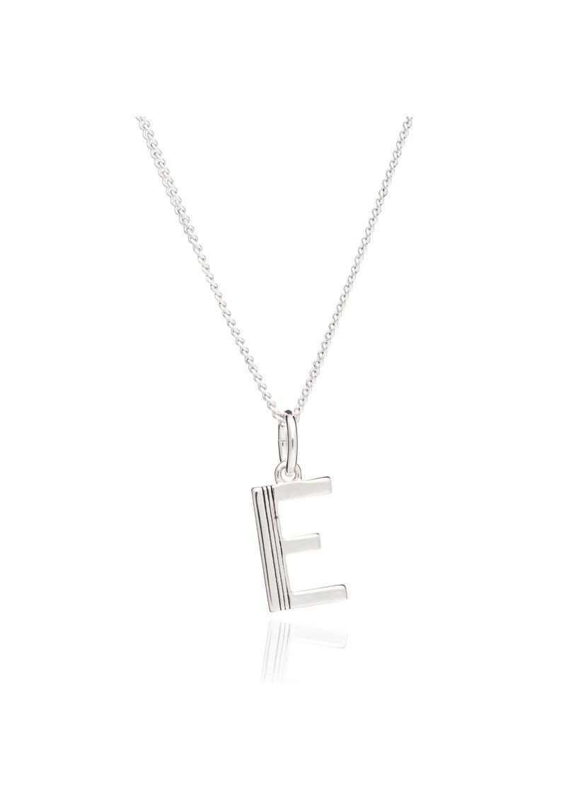 RACHEL JACKSON This Is Me 'E' Alphabet Necklace - Silver main image