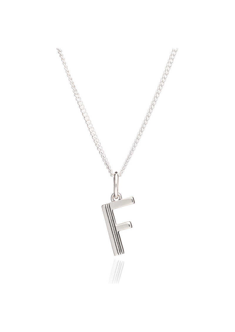 RACHEL JACKSON This Is Me 'F' Alphabet Necklace - Silver main image