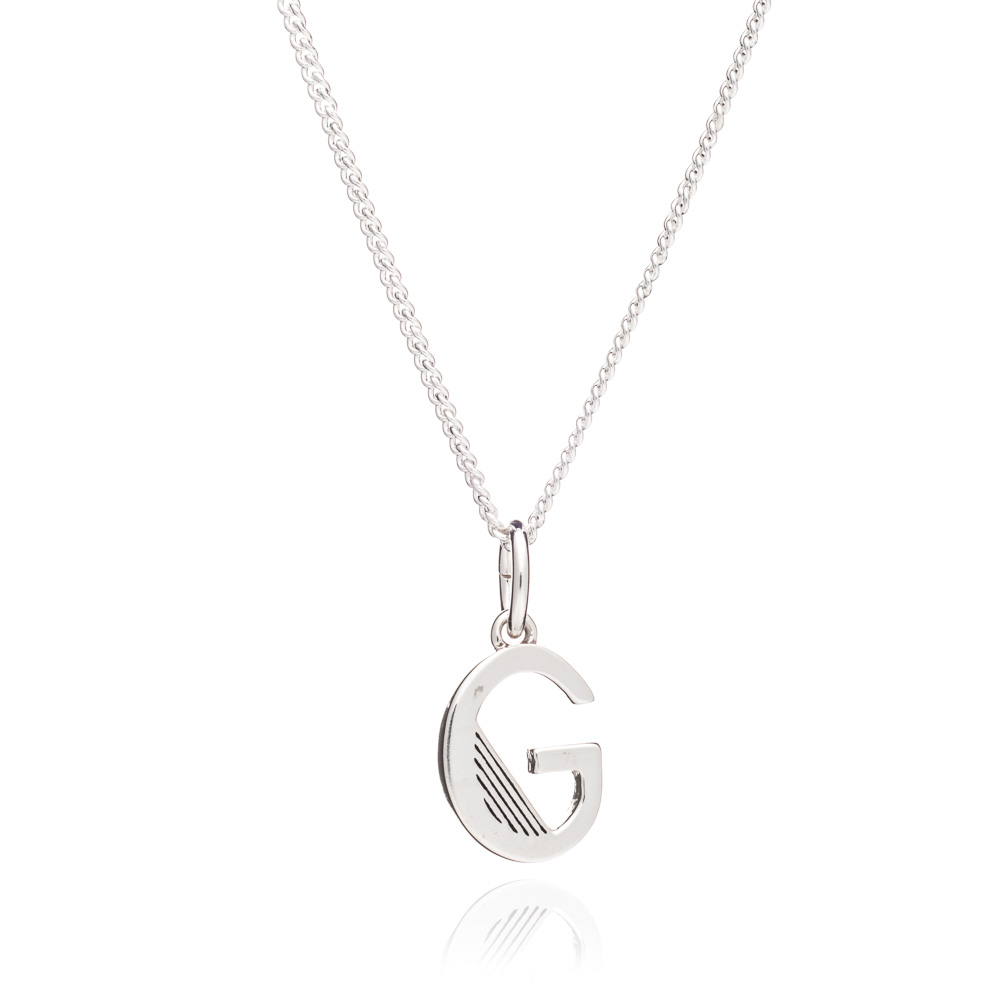 This Is Me 'G' Alphabet Necklace - Silver