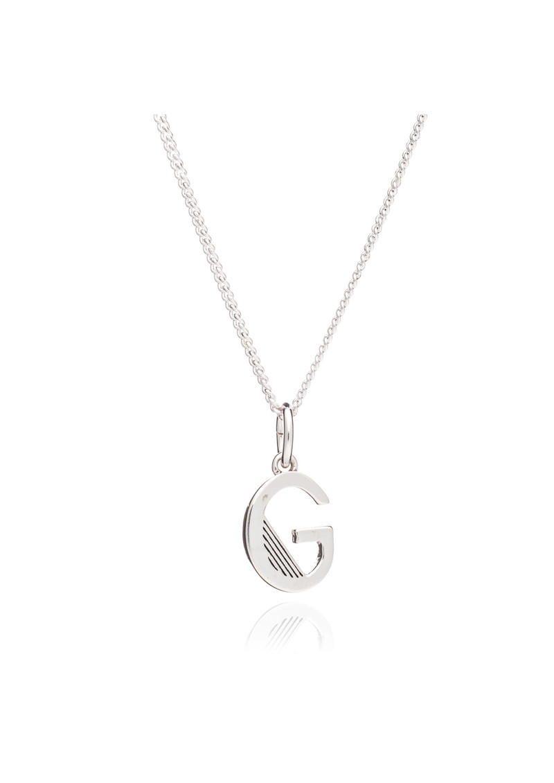 This Is Me 'G' Alphabet Necklace - Silver main image