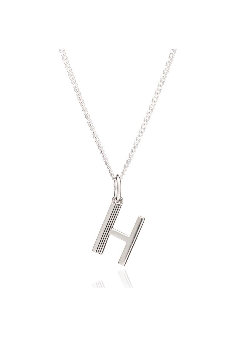 RACHEL JACKSON This Is Me 'H' Alphabet Necklace - Silver main image