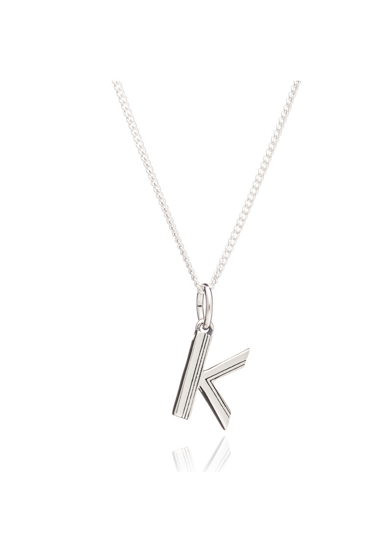 This Is Me 'K' Alphabet Necklace - Silver main image