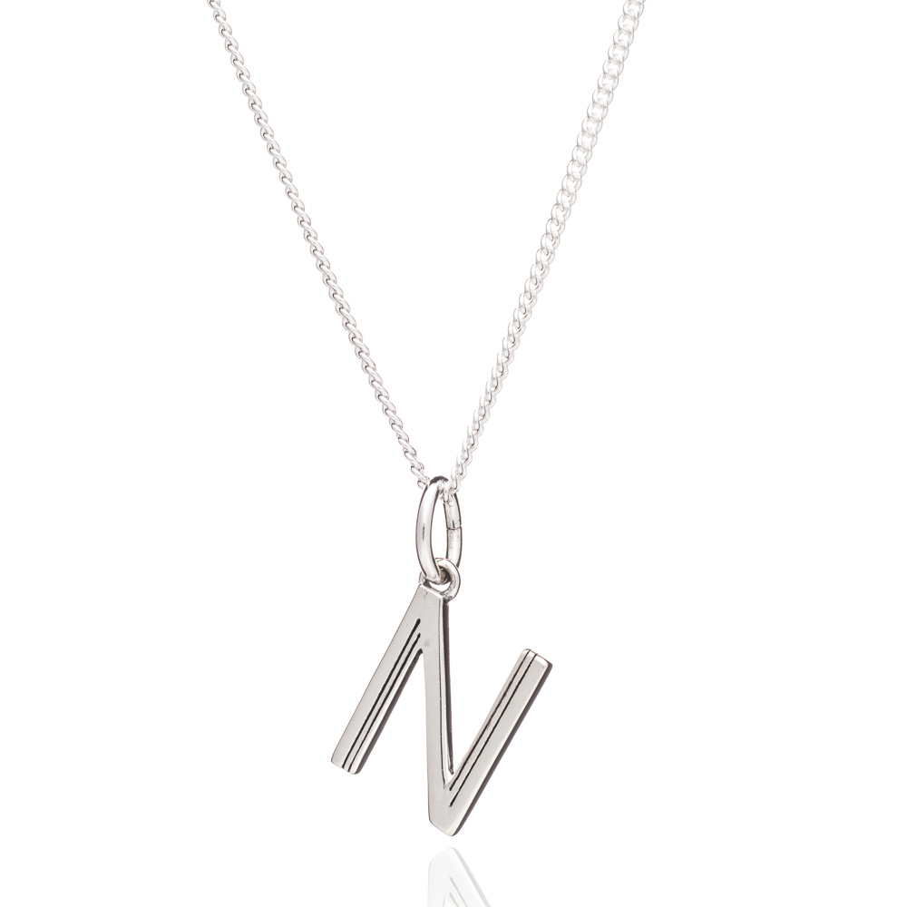 This Is Me 'N' Alphabet Necklace - Silver