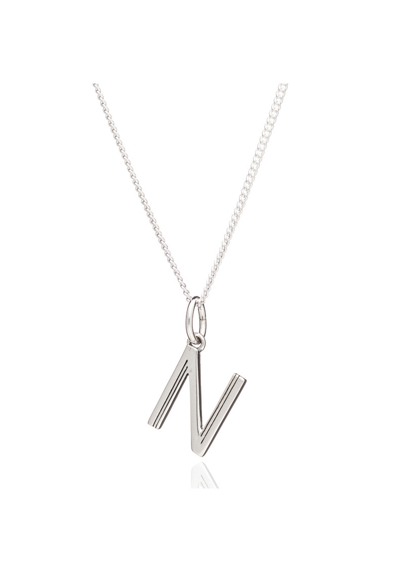 This Is Me 'N' Alphabet Necklace - Silver main image