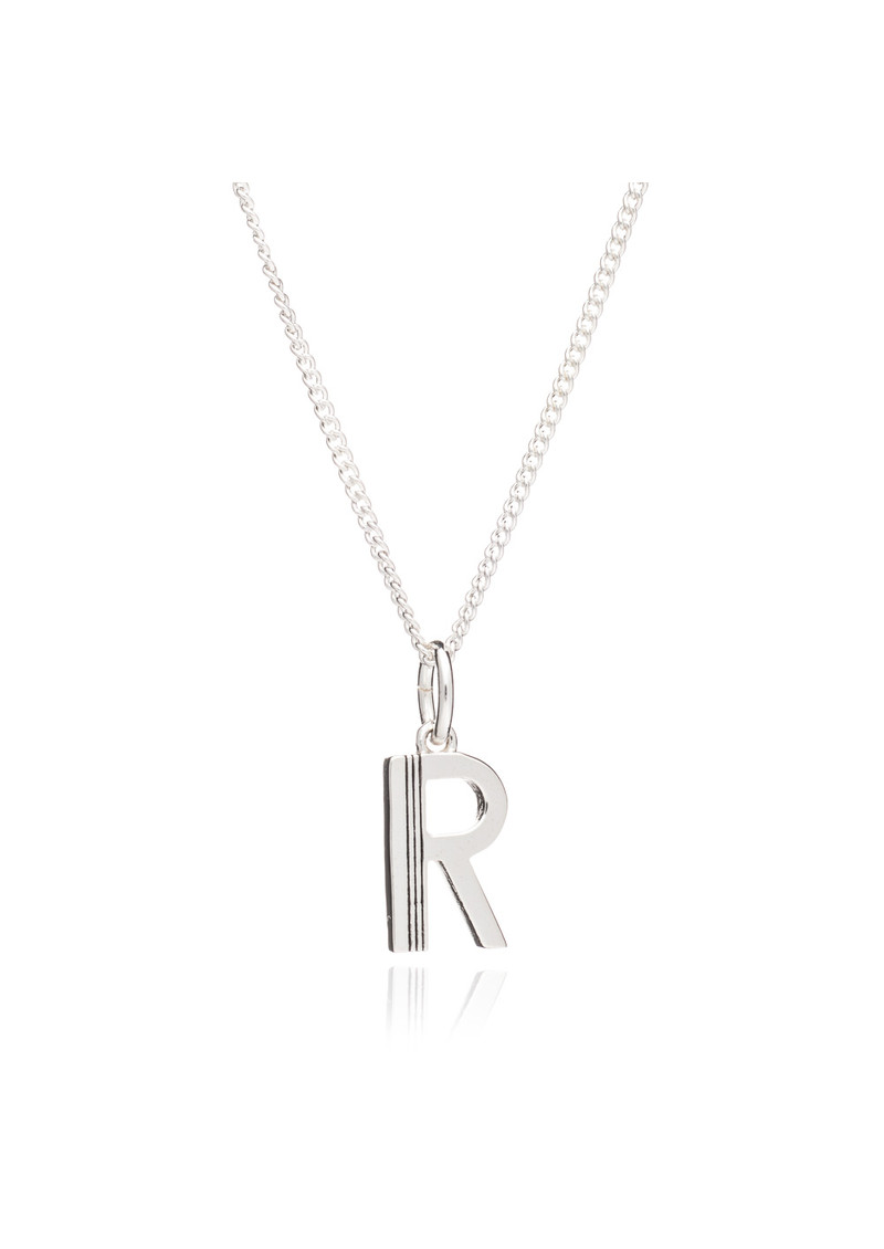 RACHEL JACKSON This Is Me 'R' Alphabet Necklace - Silver main image