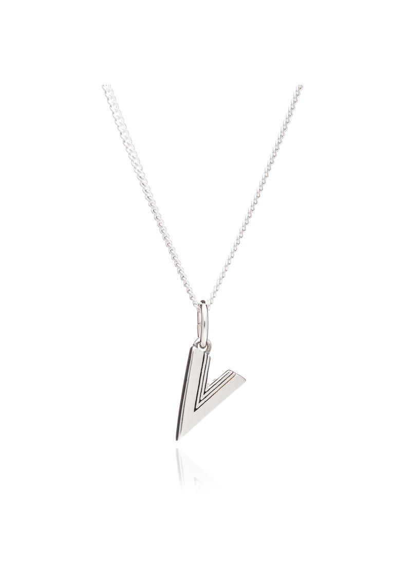 RACHEL JACKSON This Is Me 'V' Alphabet Necklace - Silver main image