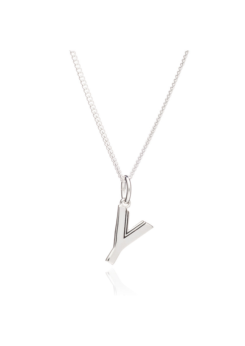 RACHEL JACKSON This Is Me 'Y' Alphabet Necklace - Silver main image