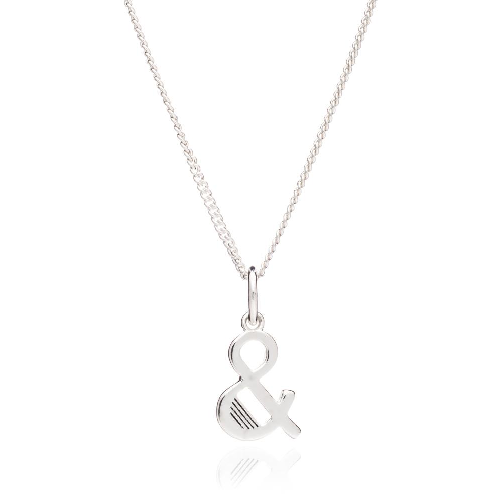 '&' Alphabet Necklace - Silver