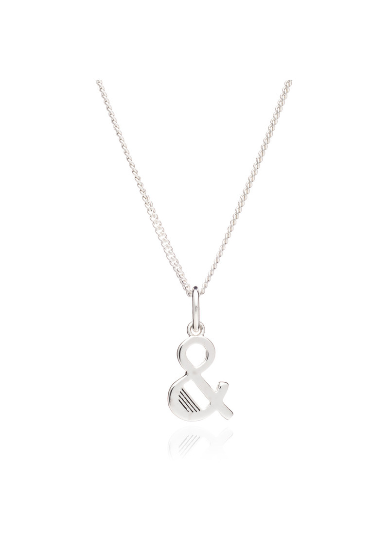 RACHEL JACKSON '&' Alphabet Necklace - Silver main image