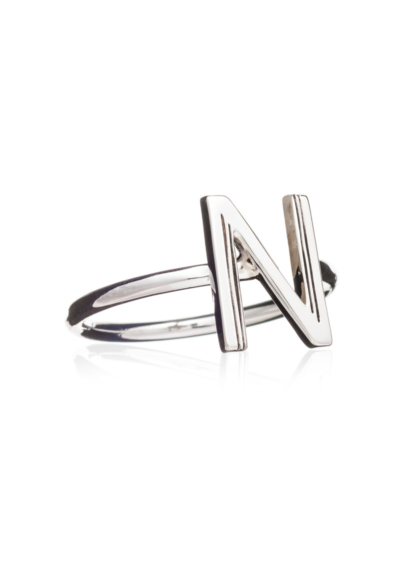 RACHEL JACKSON 'N' Adjustable Alphabet Ring - Silver main image