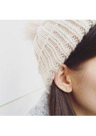 RACHEL JACKSON Triangle Stud Earrings - Silver