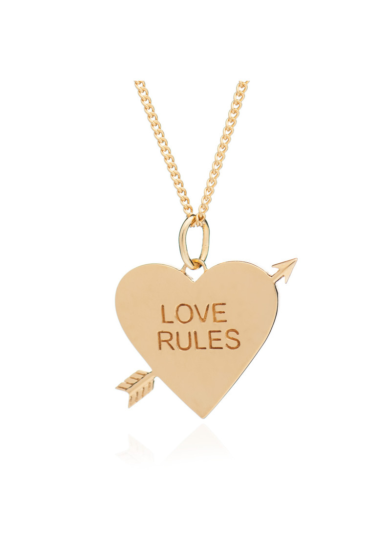 RACHEL JACKSON Love Rules Necklace - Gold main image