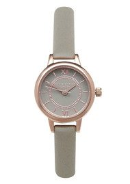 Olivia Burton Mini Wonderland Grey Dial Watch - Grey & Rose Gold