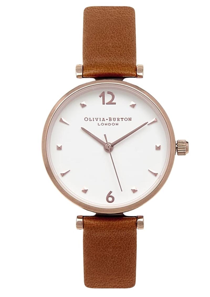 Olivia Burton Modern Vintage T-Bar Watch - Tan & Rose Gold main image