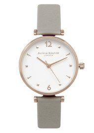Olivia Burton modern Vintage T-Bar Watch - Grey & Gold