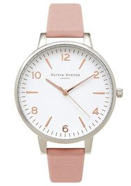 Olivia Burton Modern Vintage Large White Face Watch - Pink, Silver & Rose Gold