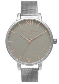 Olivia Burton Big Dial Mesh Watch - Silver