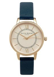Olivia Burton Wonderland Watch - Navy & Gold