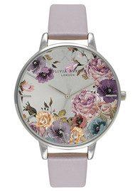 Olivia Burton Parlour Watch - Grey, Lilac & Silver