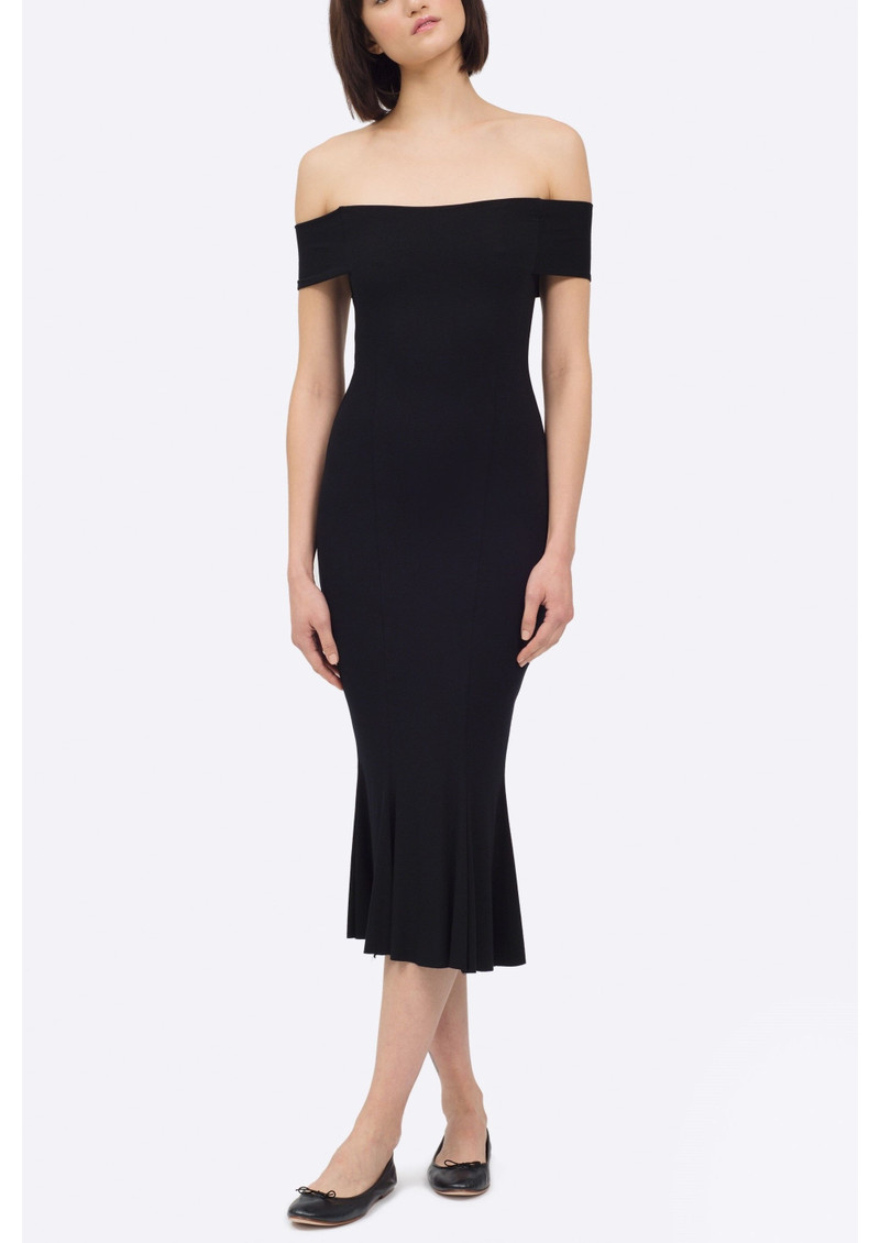 NADIA TARR Modern Trumpet Dress - Black main image