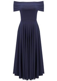 NADIA TARR Off Shoulder Dress - Navy