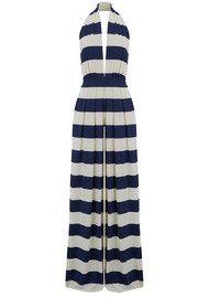 NADIA TARR Striped Halter Neck Jumpsuit - Navy & White