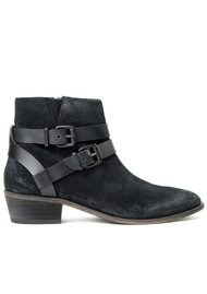 Hudson London Meeya Suede Ankle Boot - Black