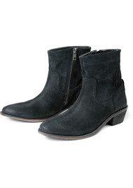 Hudson London Laya Suede Ankle Boot - Black