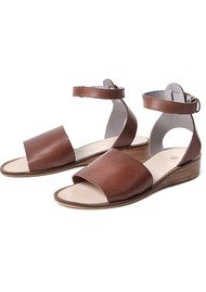 H By Hudson Fifa Leather Sandal - Tan