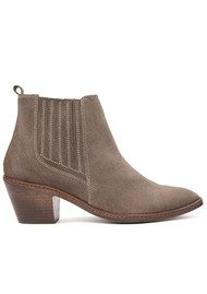H By Hudson Celeste Suede Ankle Boots - Taupe