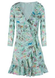 RIXO London Gemma Dress - Mint Animal