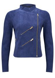 FAB BY DANIE Paris Suede Jacket - Navy
