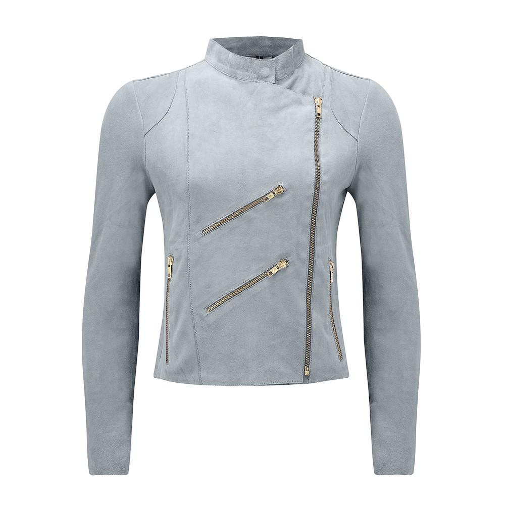 Paris Suede Jacket - Grey