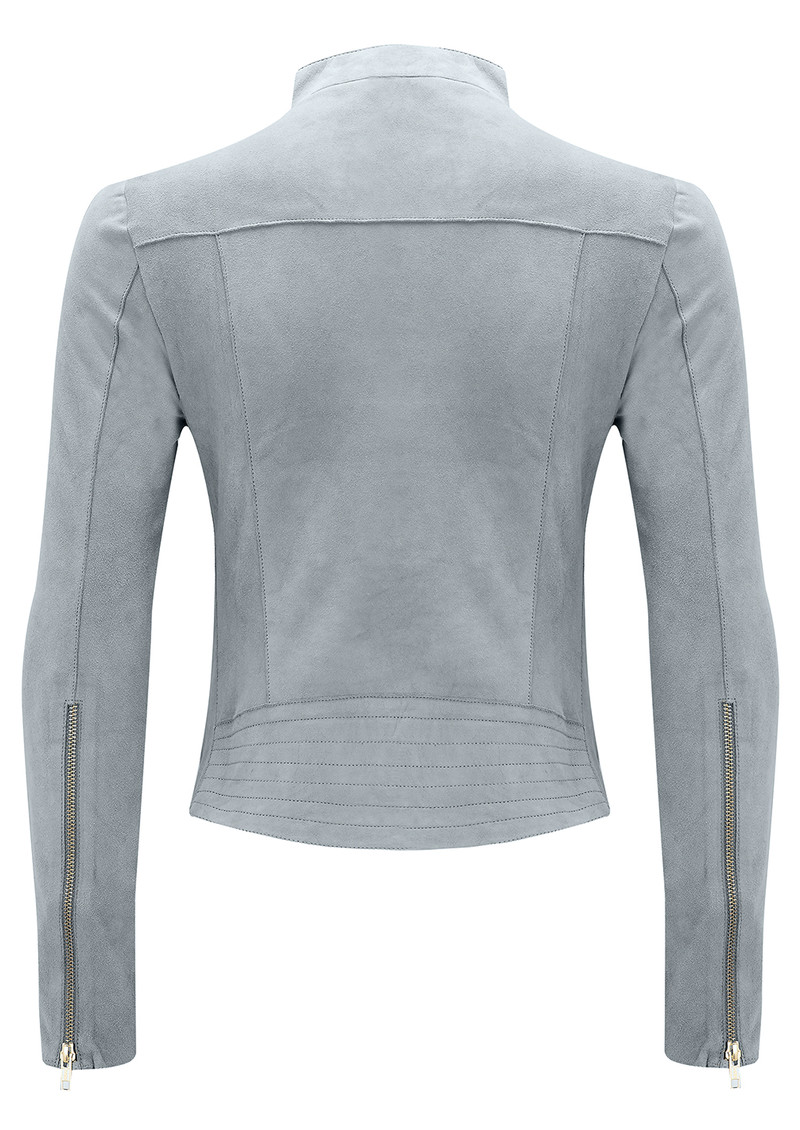 FAB BY DANIE Paris Suede Jacket - Grey main image