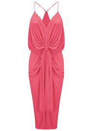 MISA Los Angeles Domino Spaghetti Strap Dress - Coral Pink