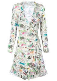 RIXO London Gemma Dress - Cream Animal
