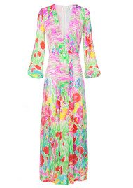 RIXO London Camellia Maxi Dress - White Watercolour Floral