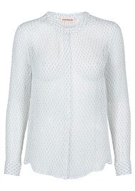 CUSTOMMADE Nicolina Silk Shirt - Whisper White