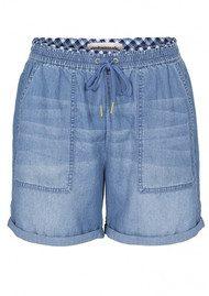 CUSTOM MADE Botelle Cotton Shorts - Insignia Blue