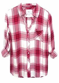 Rails Hunter Shirt - Raspberry & White